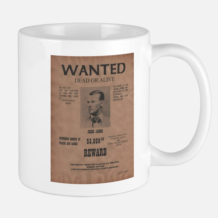 Jesse James Wanted Poster Mug