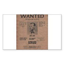 Jesse James Wanted Poster Decal
