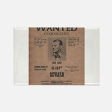 Jesse James Wanted Poster Rectangle Magnet
