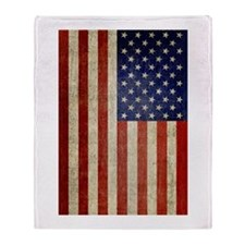 Vintage USA Flag Throw Blanket