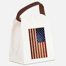 Vintage USA Flag Canvas Lunch Bag