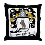 Von Printz Coat of Arms Throw Pillow