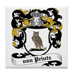 Von Printz Coat of Arms Tile Coaster