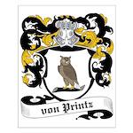 Von Printz Coat of Arms Small Poster