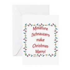 Merry Mini Schnauzer Greeting Cards (Pk of 10)