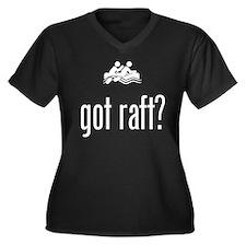 Rafting Women's Plus Size V-Neck Dark T-Shirt