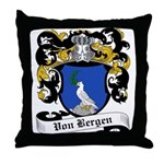 Von Bergen Coat of Arms Throw Pillow