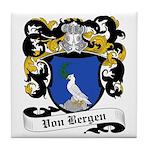 Von Bergen Coat of Arms Tile Coaster