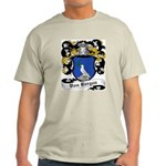 Von Bergen Coat of Arms Ash Grey T-Shirt