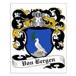 Von Bergen Coat of Arms Small Poster