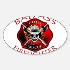 Bad Ass Firefighter Rectangle Decal