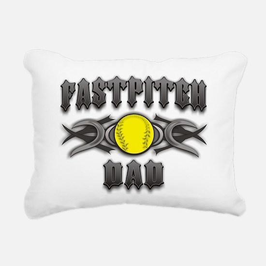 Fastpitch Dad Tribal Rectangular Canvas Pillow