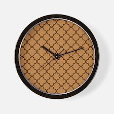 Autumn Quat Print Wall Clock