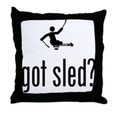 Physically Challenged Sled Hockey Throw Pillow