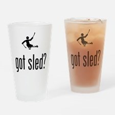 Physically Challenged Sled Hockey Drinking Glass
