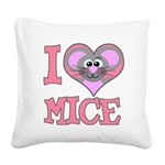 love mice.png Square Canvas Pillow