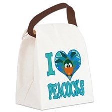 love peacocks.png Canvas Lunch Bag