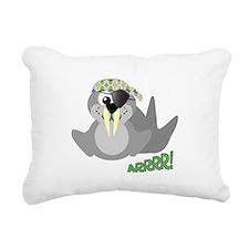 pirate walrus.png Rectangular Canvas Pillow