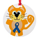 blue ribbon orange kitty cat copy.png Round Orname