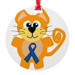 blue ribbon orange kitty cat copy.png Round Orname