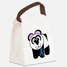 blue ribbon panda copy.png Canvas Lunch Bag