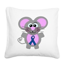 blueribbon mouse copy.png Square Canvas Pillow