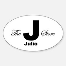 The Julio Store Oval Decal