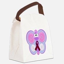 burg ribbon butterfly Canvas Lunch Bag