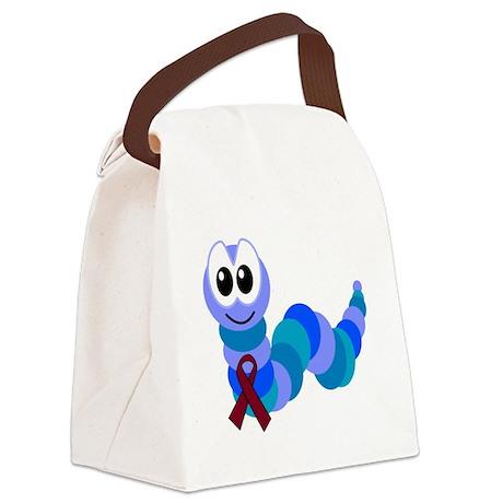 burg ribbon caterpillar Canvas Lunch Bag