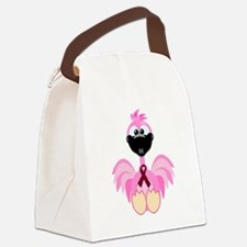 burg ribbon flamingo.png Canvas Lunch Bag