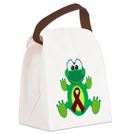 burg ribbon froggy.png Canvas Lunch Bag