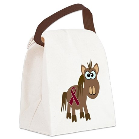 burg ribbon horse.png Canvas Lunch Bag