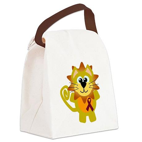 burg ribbon lion copy.png Canvas Lunch Bag