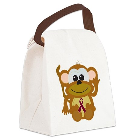 burg ribbon monkey.png Canvas Lunch Bag