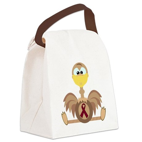 burg ribbon ostrich copy.png Canvas Lunch Bag