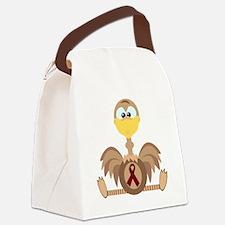 burg ribbon ostrich copy.png Canvas Lunch Bag