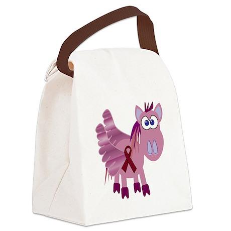 burg ribbon pegasus.png Canvas Lunch Bag