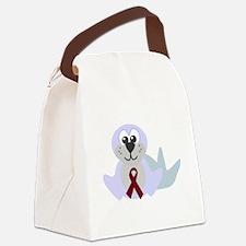 burg ribbon seal.png Canvas Lunch Bag