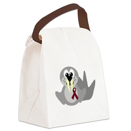 burg ribbon walrus.png Canvas Lunch Bag