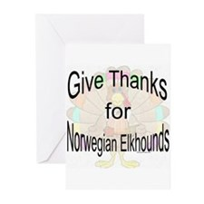 Thanks for Elkhound Greeting Cards (Pk of 10)