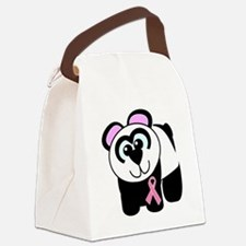 pink ribbon panda.png Canvas Lunch Bag