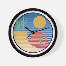 Cactus Desert Scene Wall Clock