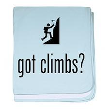Mountain Climbing baby blanket