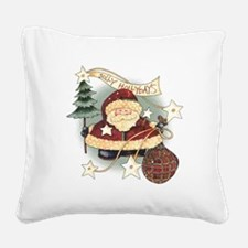 Jolly Holidays 2000x2000.png Square Canvas Pillow