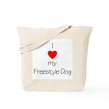 I Love My Freestyle Dog Tote Bag