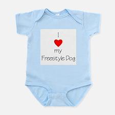 I Love My Freestyle Dog Infant Creeper