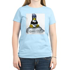 Chill Out Penguin Women's Pink T-Shirt