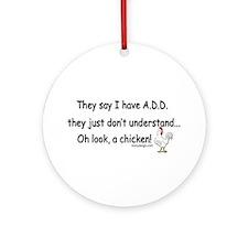 ADD Chicken Ornament (Round)