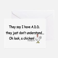 ADD Chicken Greeting Cards (Pk of 10)