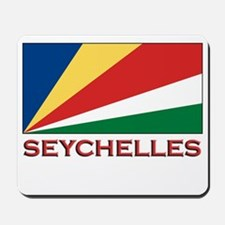 Seychelles Flag Gear Mousepad